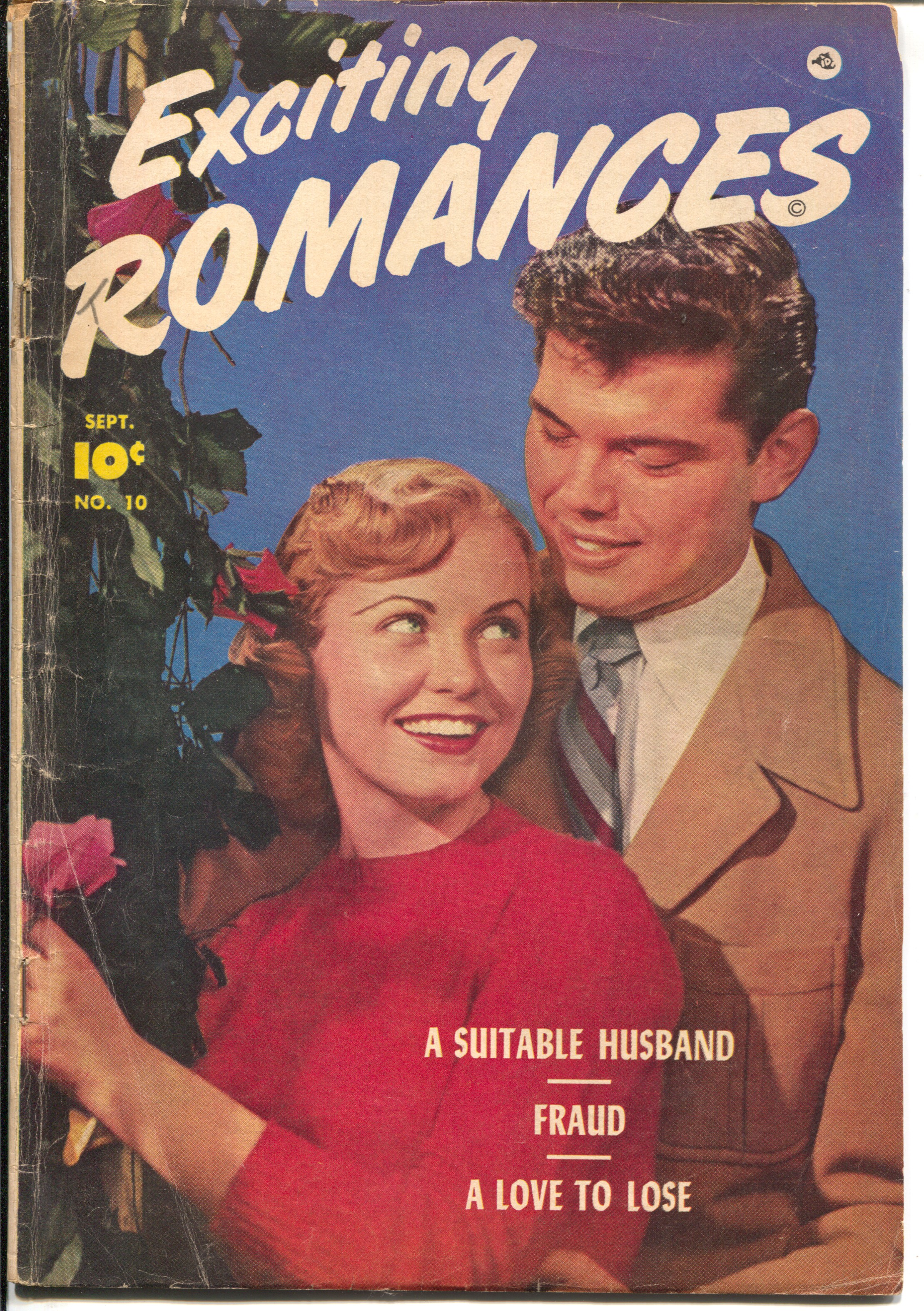 Exciting Romances #10 1952-Fawcett-Bob Powell-jaguar & lingerie imagery-VG Very Good -Bob Powell art -Photo cover Jaguar and lingerie inagery Condition: VG
