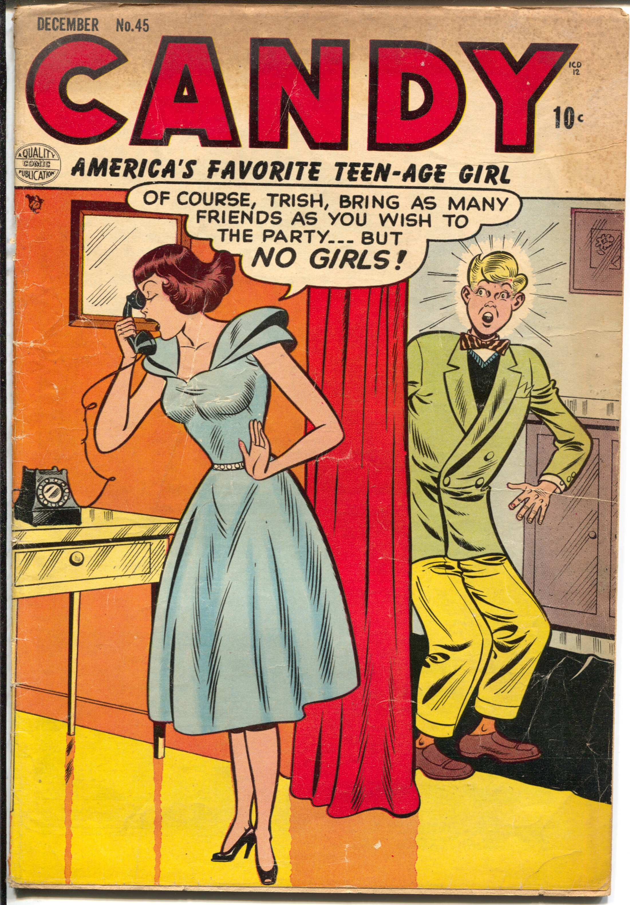 Candy #45 1953-Quality-humorous Good Girl Art-spicy poses-VG Very Good
