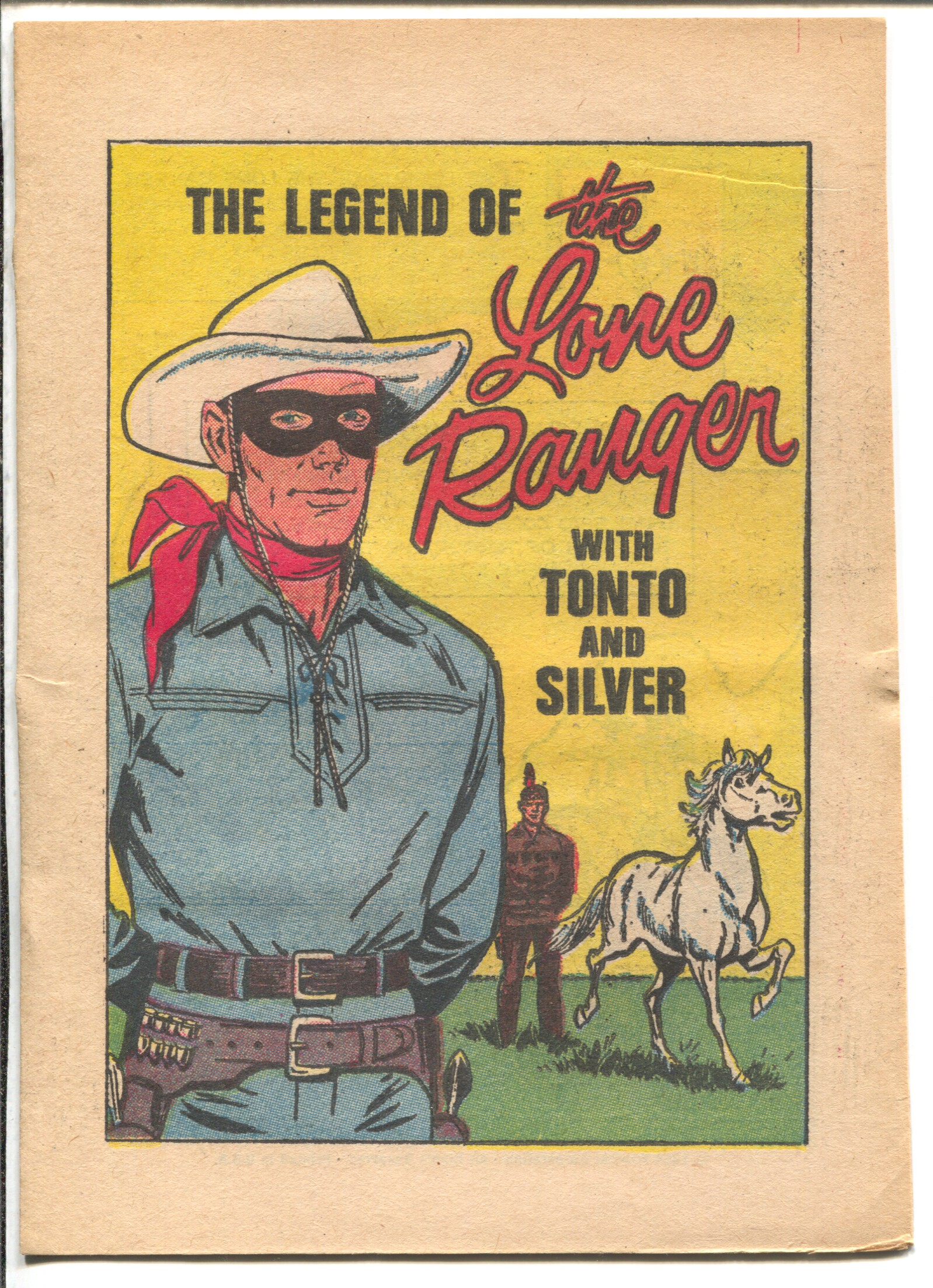 Legend of The Lone Ranger #1 1969-Tonto-Silver-Giveaway comic book-FN+