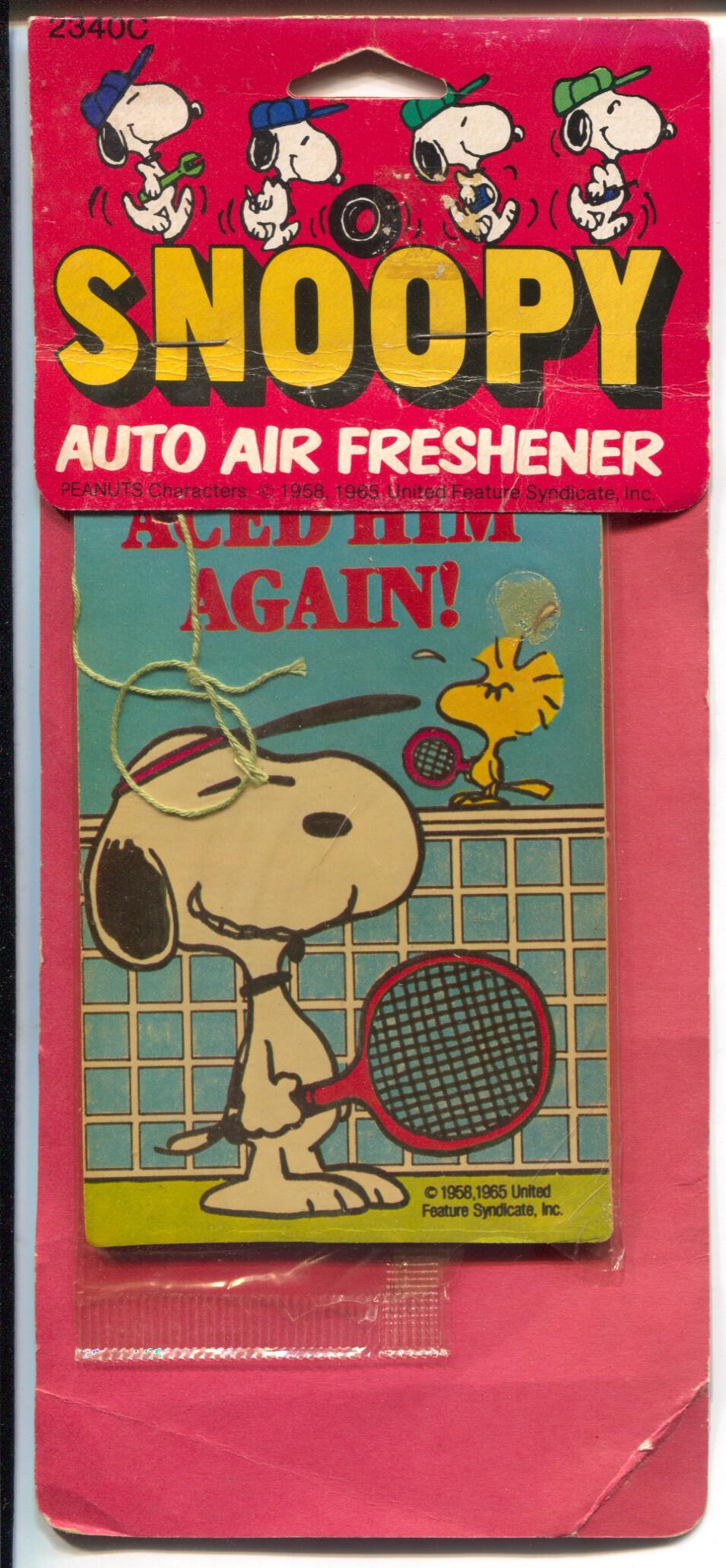 Snoopy Auto Air Freshener 1985