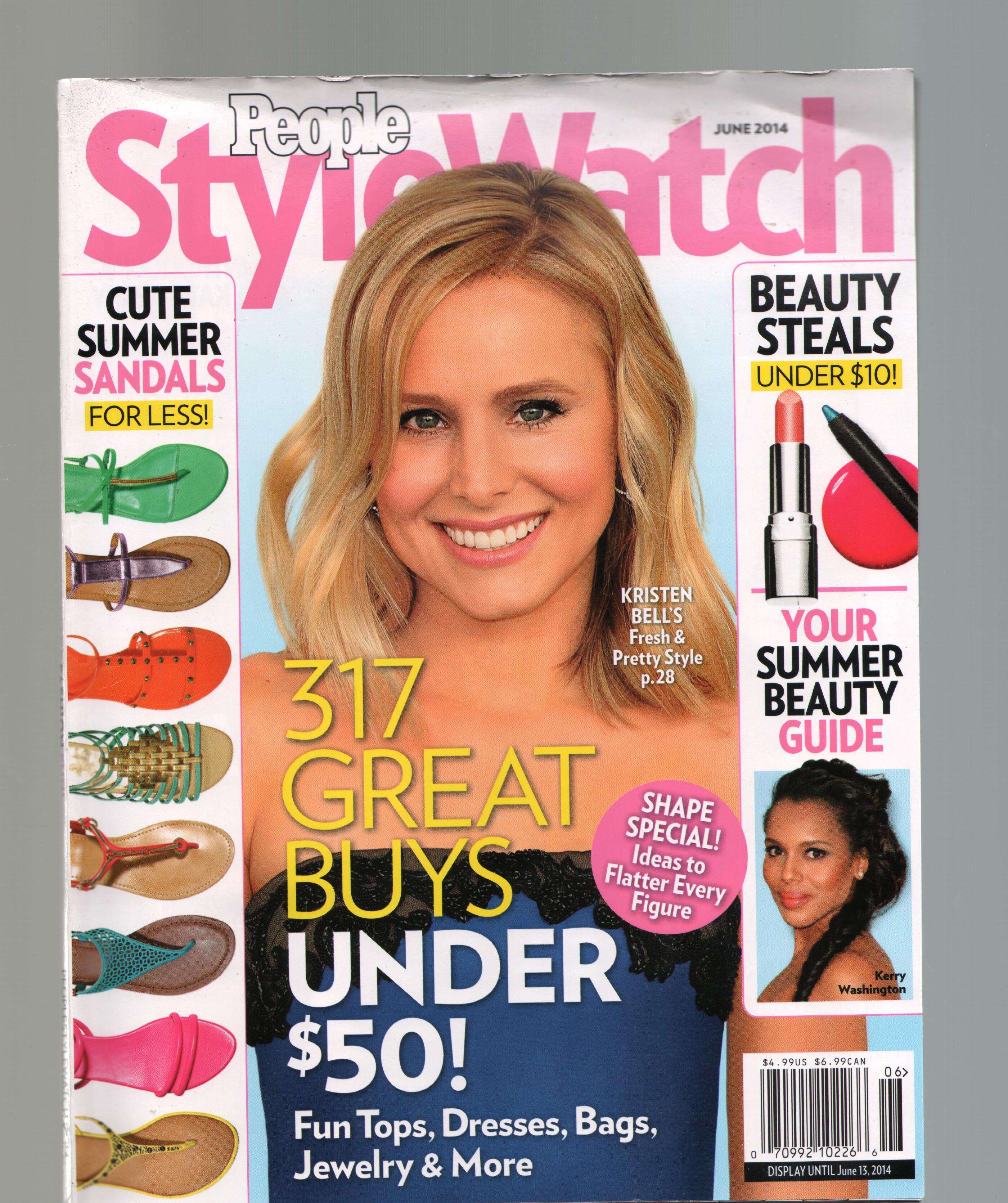 Style Watch-Kristen Bell-June 2014-Music-TV-Fashion-Beauty