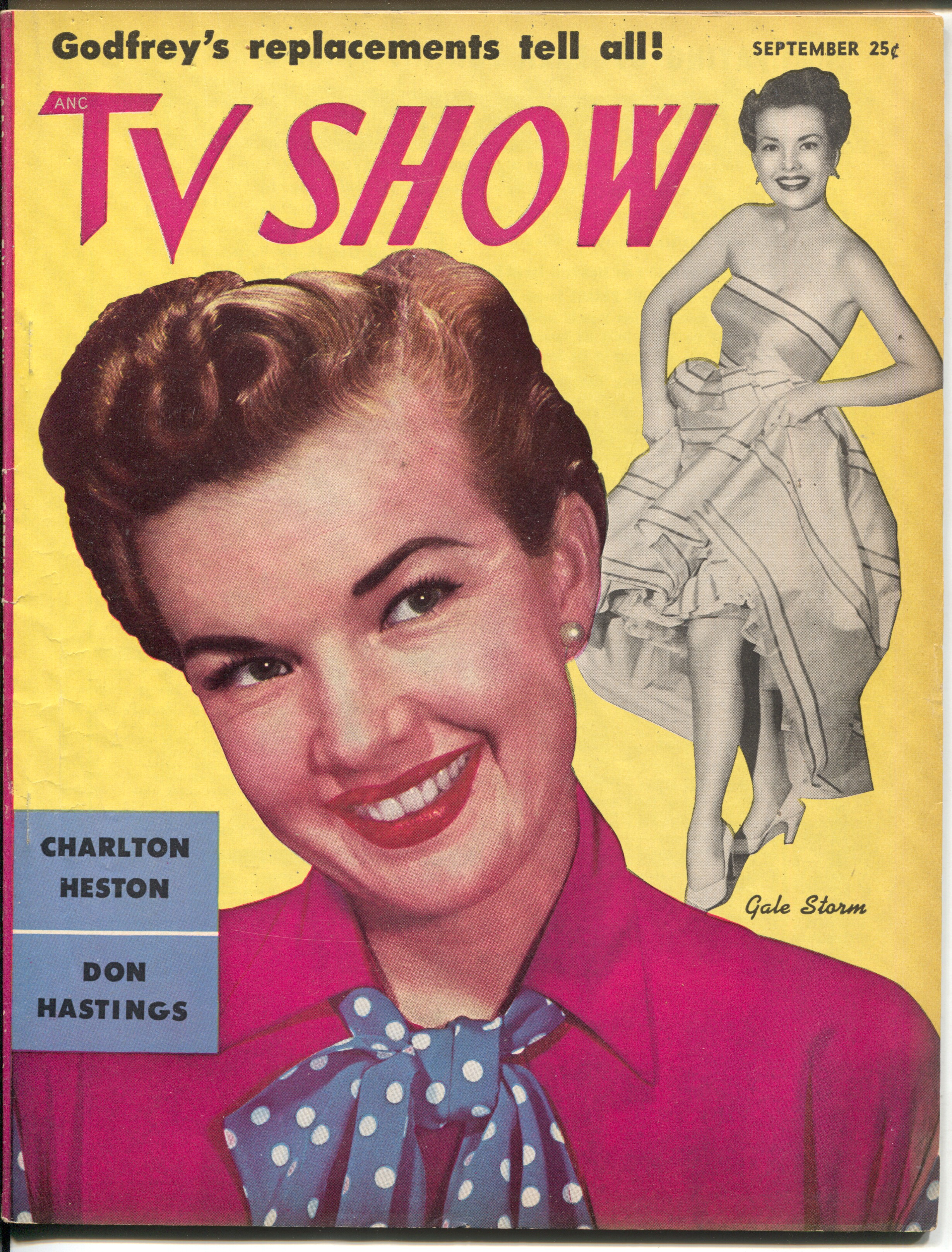 TV Show 9/1953-Gale Storm-Annie Oakley-Capt Video-James Daly-VG Very Good -Early TV magazine -Gale Storm cover and story -Annie Oakley-Gail Davis photo -Captain Video-Don Hastings as the Video Ranger -James Daly-Foreign Intr