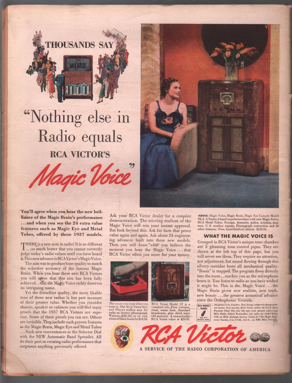 Radio Guide 12/5/1936-Gracie Allen-Nelson