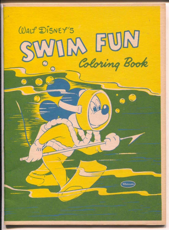 Walt Disney\'s Swim Fun Coloring Book-Mickey ...
