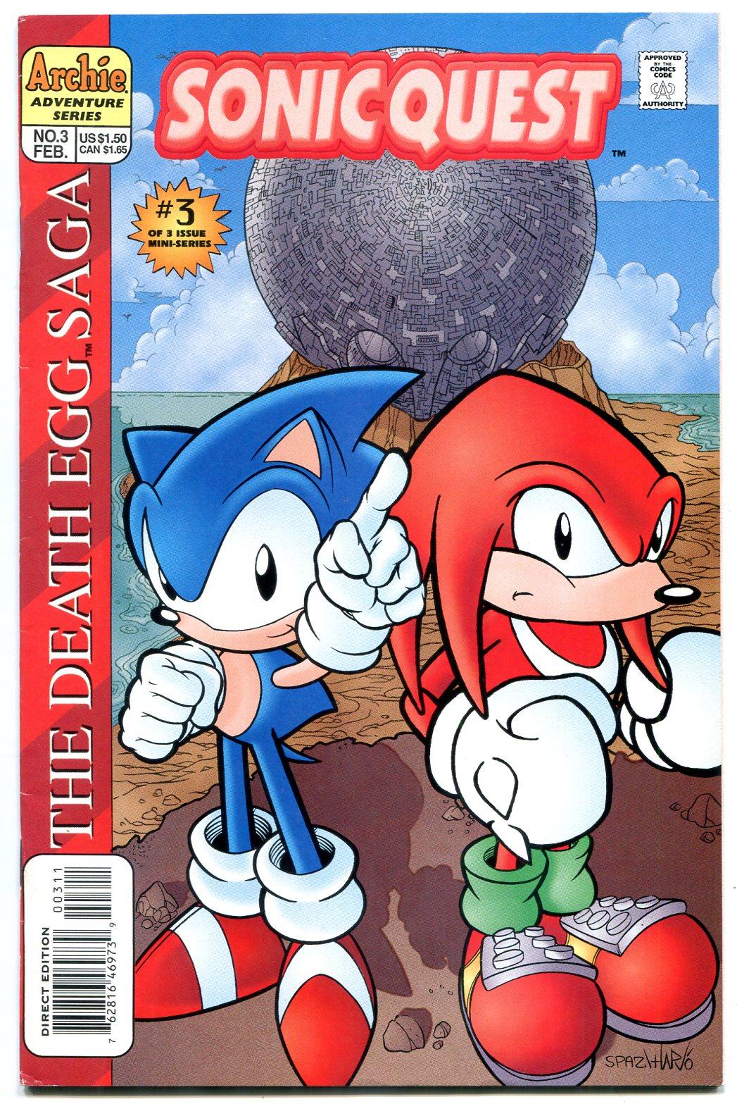 Sonic Quest The Death Egg Saga 3 1996 Sega Archie Comics Vf 1997 Comic Dta Collectibles