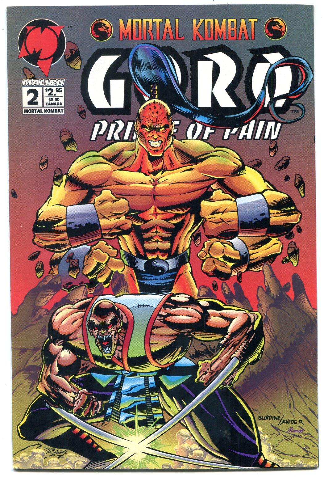 Mortal Kombat Goro Prince Of Pain 2 1994 Malibu Comics Nm