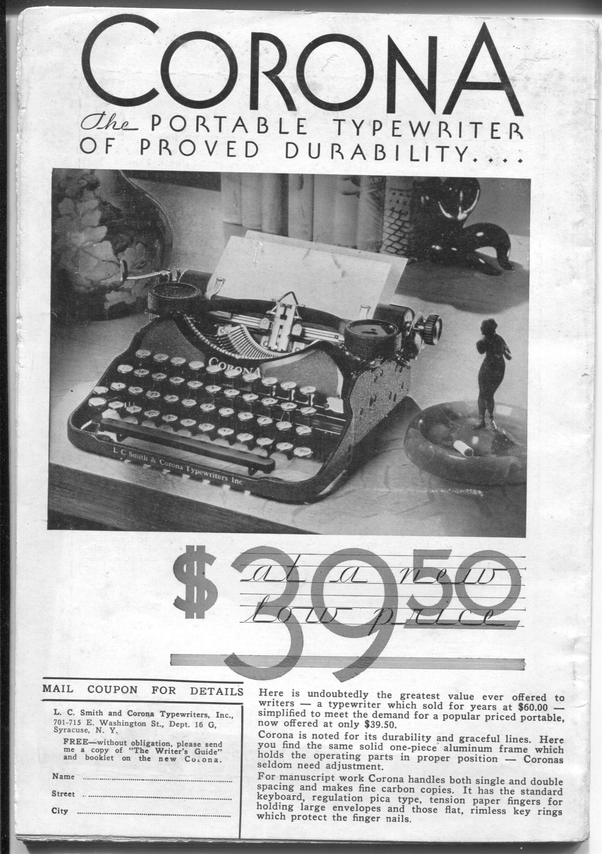 Writer's Digest 5/1930-Barry Bacon-Weird