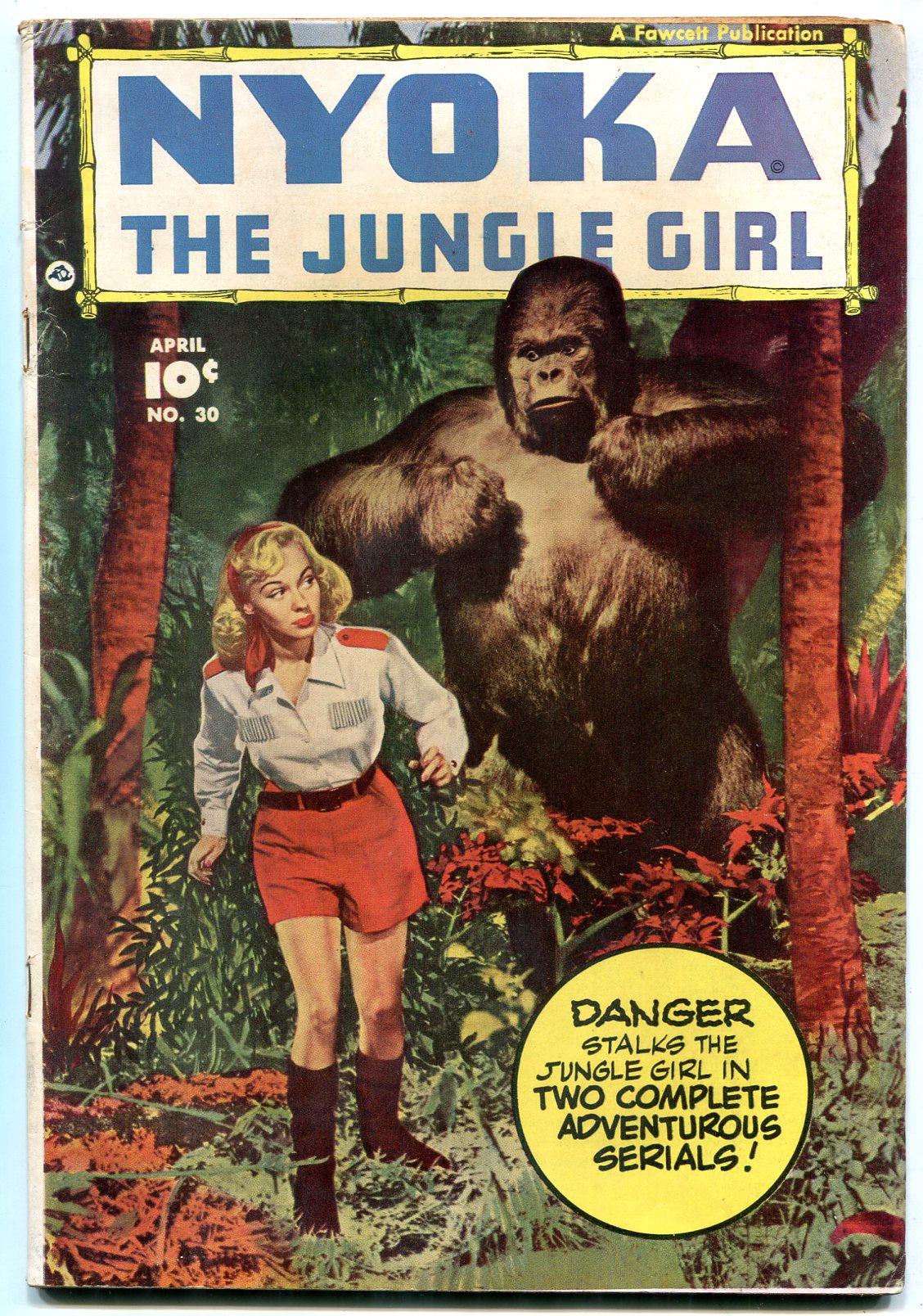 jungle girl and gorilla