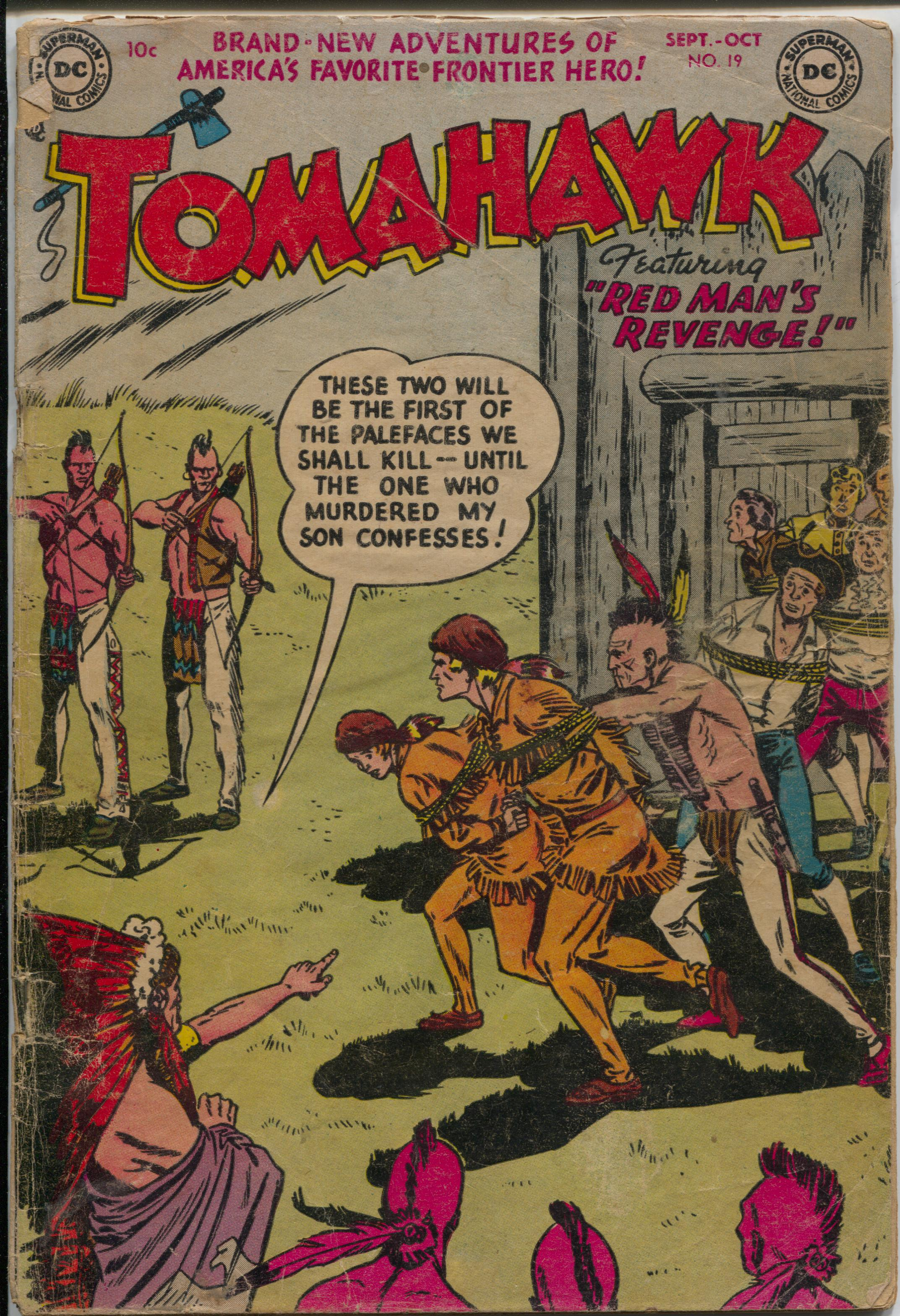 Tomahawk #19 1953-DC-Red Coats-Indian terror-G Good -Indian terror -Fight the Red Coats Condition: G