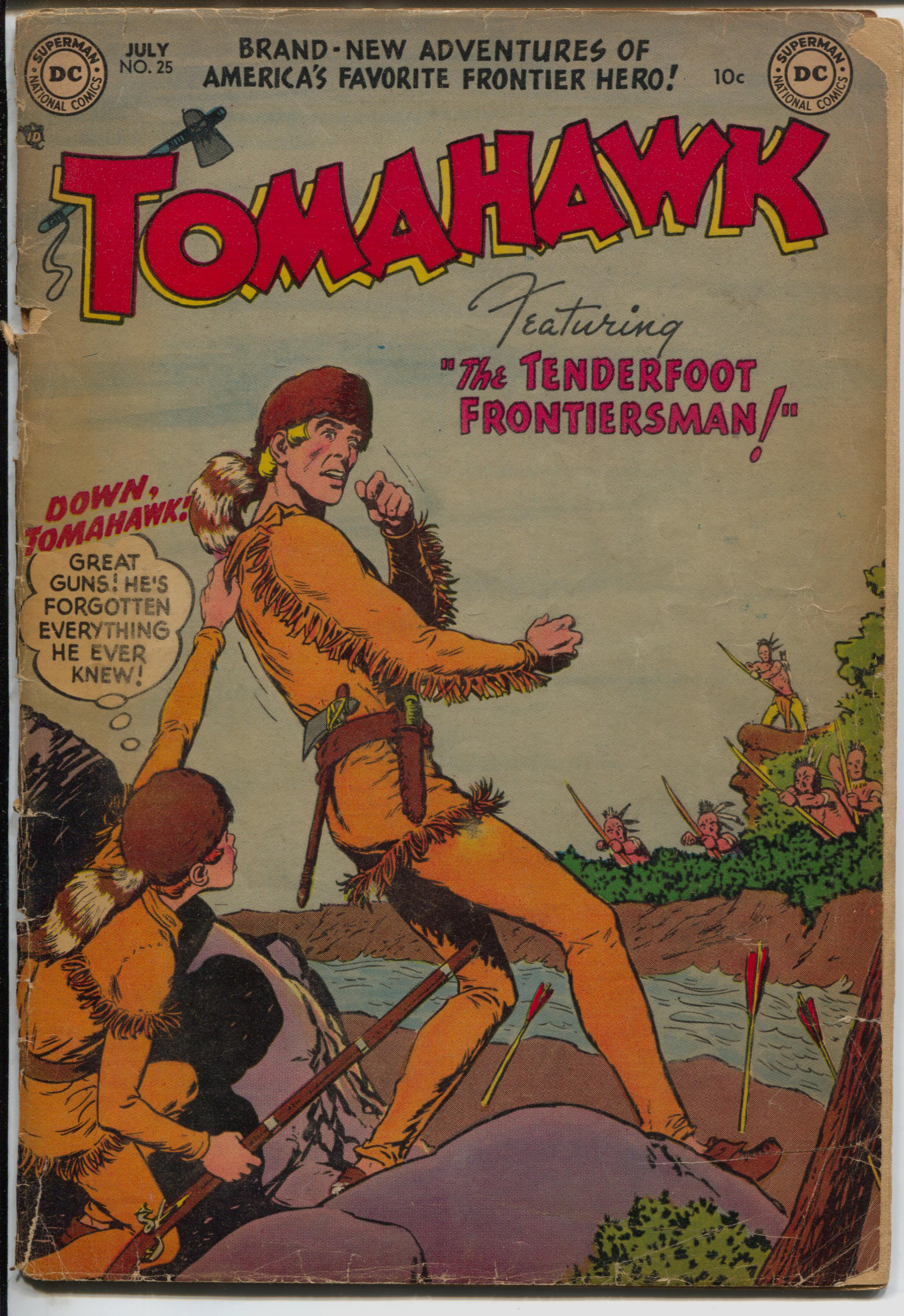 Tomahawk #25 1954-DC-Red Coats-Indian fight cover-G Good -Indian fight cover -Fight the Red Coats -Cover detached Condition: G