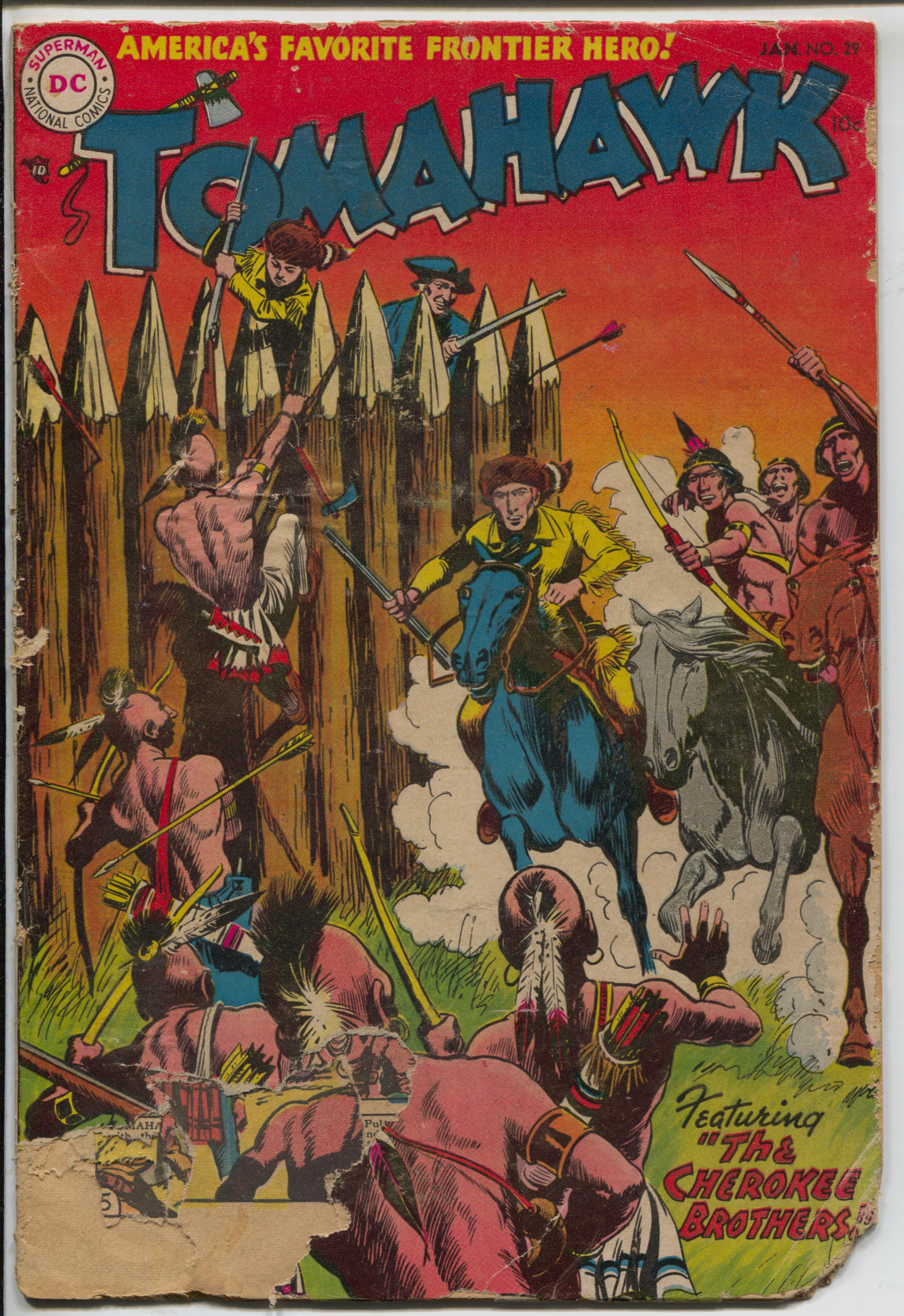 Tomahawk #29 1955-DC-Red Coats-Indian fight cover-Frank Frazetta art-FR/G Fair -Indian fight cover -Fight the Red Coats -Frank Frazetta art Condition: FR/G