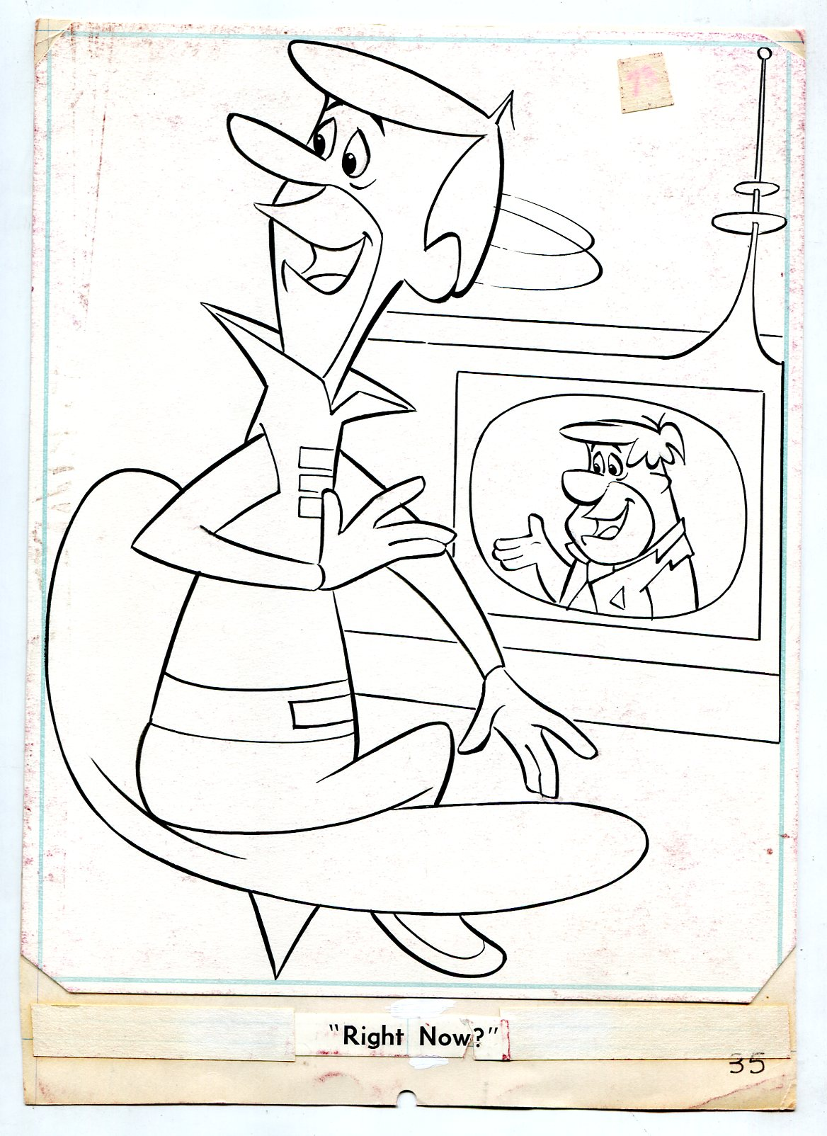 Jetsons Comic Original Art Coloring Book ...