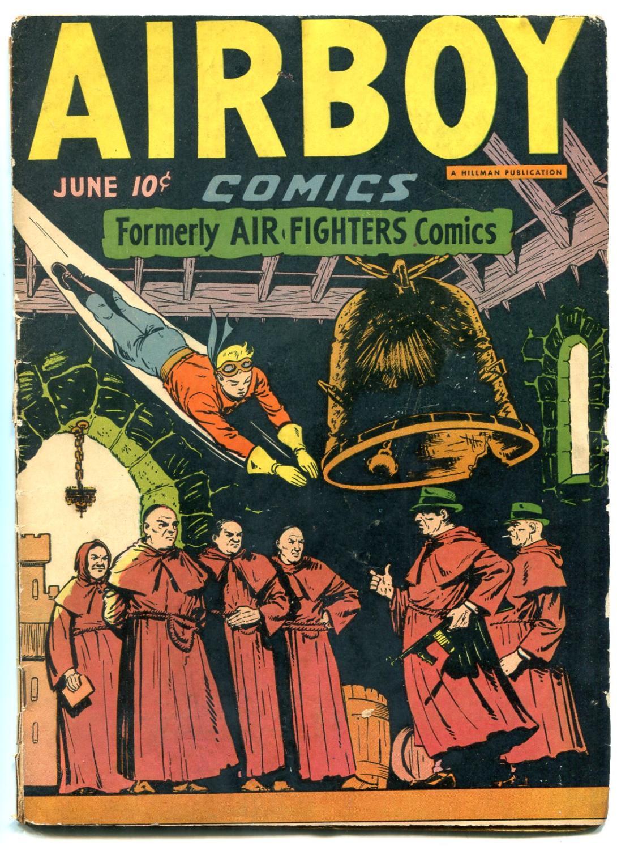 Airboy Comics Vol 3 #5 1946- Golden Age- Tommy Gun cover G/VG Good