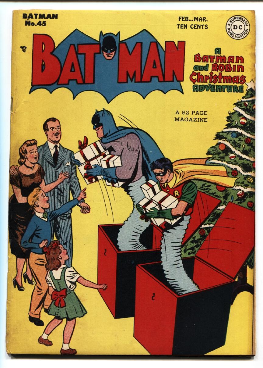 Batman Christmas.Batman 45 1948 Catwoman Christmas