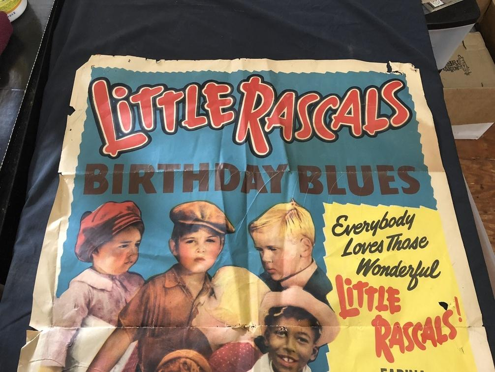 Surprising Little Rascals Birthday Blues 1939 One Sheet Poster 39484 Good Personalised Birthday Cards Paralily Jamesorg