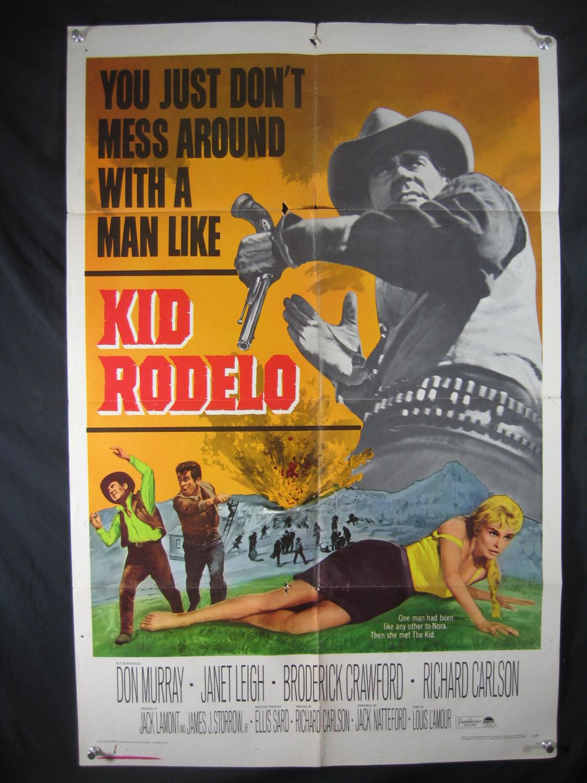 KID RODELO-DON MURRAY-ORIG POSTER-1965-WESTERN G/VG Good