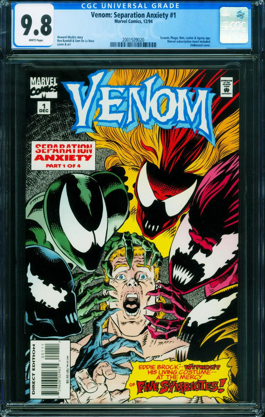 Venom Separation Anxiety 1 1st Issue Cgc 9 8 1994 2001509020 1994 Comic Dta Collectibles