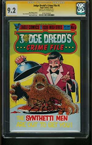 JUDGE DREDD'S CRIME FILE #5-CGC SIGNATURE-GRADED 9.2- DAVE GIBBONS 0181255023