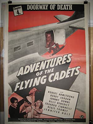ADVENTURES OF THE FLYING CADETS 1943 SERIAL-WWII LINEN VG/FN