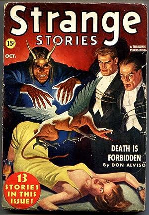 Strange Stories 10/1939-chained babe-horror pulp-strange flying beast-G