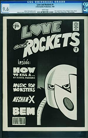 LOVE AND ROCKETS #1 CGC 9.6 1981-HERNANDEZ BROTHERS-Very rare- 0295751001