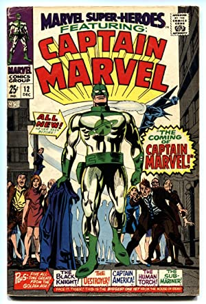 Marvel Super-Heroes #12 comic book first Captain Marvel-first issue-1967