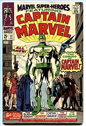Marvel Super-Heroes #12 VF- comic book first Captain Marvel-first issue-1967