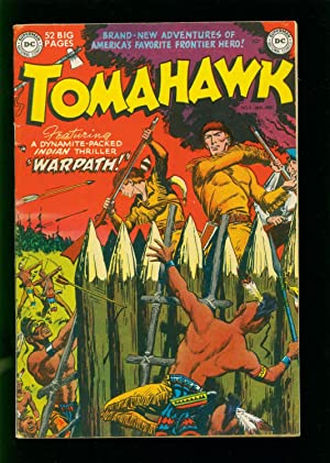 TOMAHAWK #3 1950- DC WESTERN - INDIAN ATTACK- GOLDEN AGE FN