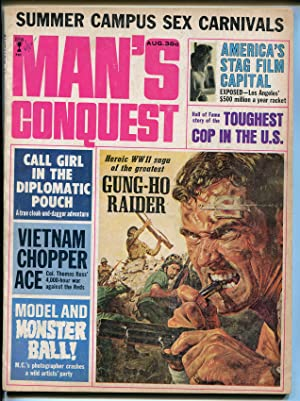 Man's Conquest 8/1965-Model & Monsters Ball-cheesecake-sex carnival-tough cop-VG