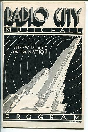 Radio City Music Hall Program 5/16/1935-event info-world's