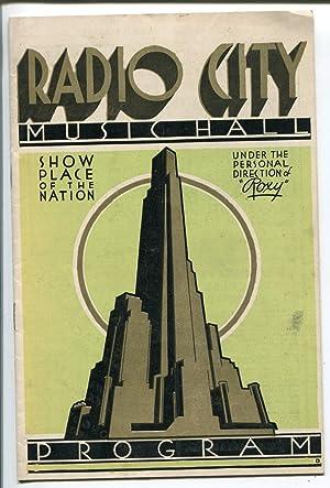 Radio City Music Hall Program 7/6/1933-event info-historic