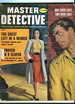 MASTER DETECTIVE-MARCH/1959-HEARSE-KIDNAPED COP-GERMAN BRIDE FR/G
