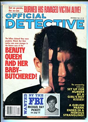 OFFICIAL DETECTIVE-DEC. 1985-RAVAGED VICTIM-BUTCHERED-MURDER-STRANGLING-R FN