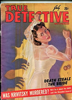 TRUE DETECTIVE MYSTERIES-JULY 1941-DEATH TRAP-MASQUERADER-CAPTURE-MYSTERY VG