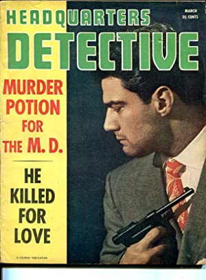 HEADQUARTERS DETECTIVE-MAR 1950-MURDER-RAPE-KIDNAPING-STRANGULATION-vg VG
