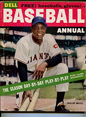 Dell Baseball Annual #4 1955-Willie Mays-NY Giants-info-pix-MLB-G/VG
