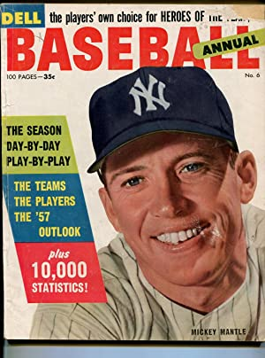 Dell Baseball Annual #6 1957-Mickey Mantle-info-pix-MLB-VG