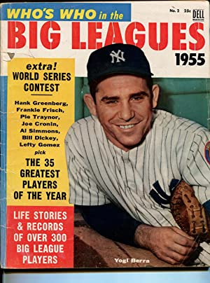 Who's Who In The Big Leagues #2 1955-Dell-Yogi Berra-info-pix-MLB-VG