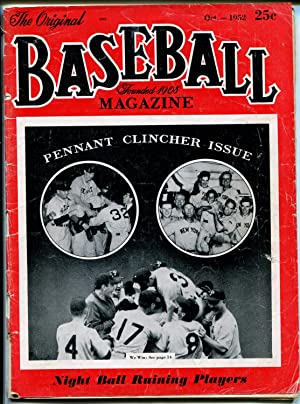 Baseball Magazine 10/1952-Pennant Clinchers-Rogers Hornsby-info-pix-MLB-G