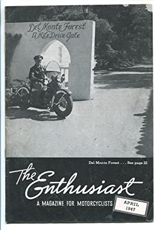 THE ENTHUSIAST 04/1947-HARLEY-DAVIDSON-HISTORIC MOTORCYCLE-vg