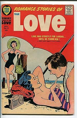 TRUE LOVE #52 1958-HARVEY-SWIMSUIT COVER-BOB POWELL-FEMALE POSES-vg minus