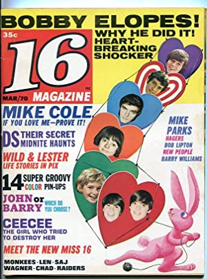 16-Mar/1970-Mike Cole-The Hagers-Mike Parks-Bobby Sherman-VG