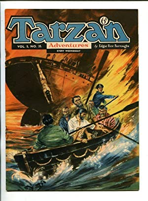 TARZAN ADVENTURES--VOL 5 #35-1955-FRED MEAGHER-REX MAXON ART-vg