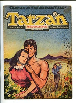 TARZAN ADVENTURES--VOL 7 #5-1957-RUBIMORE ART--MEAGHER-vg