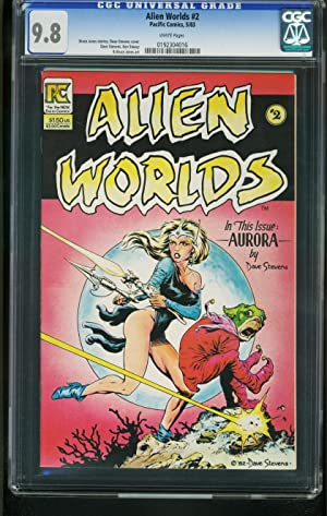 ALIEN WORLDS #2 1983-CGC GRADED 9.8 WHITE PAGES-DAVE STEVENS 0192304016