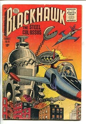 BLACKHAWK #91-1955-ROBOTIC TERROR COVER-vg