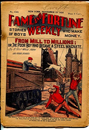 Fame & Fortune Weekly 11/19/1926-dime novel-From Mill