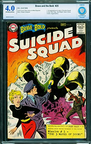 Brave And The Bold #25 CBCS 4.0-ow/w-First Suicide Squad-DC 1959