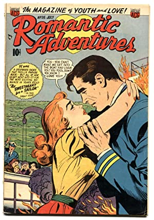 Romantic Adventures #35 1953 First interracial romance in comics! comic book