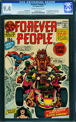 Forever People #1 - CGC 9.4 -Jack Kirby- 1st full Darkseid-High Grade 0280678014
